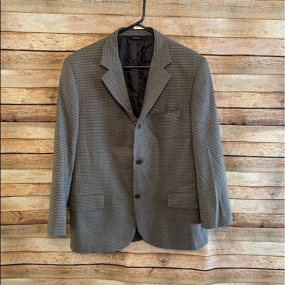 Brooks Brothers Other - Brooks Brothers Saxon Wool Houndstooth Blazer 42R